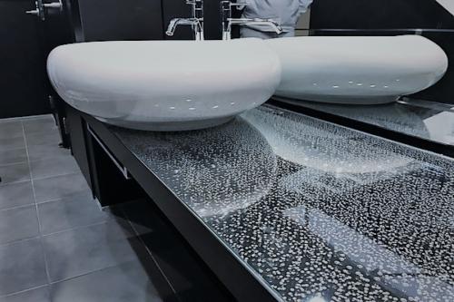 デザイナーズ 住宅 洗面 カウンター 鏡 シンプル モダン