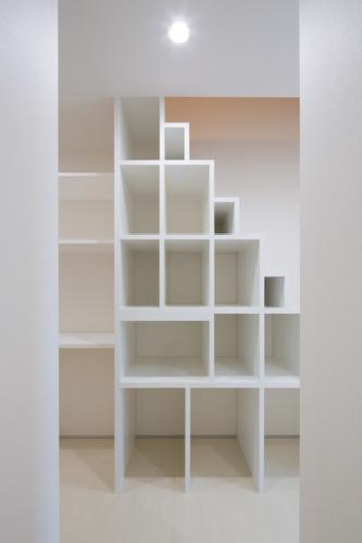 デザイナーズ 住宅 収納 階段 シンプル モダン