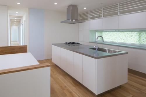 デザイナーズ 住宅 アイランド キッチン シンプル モダン