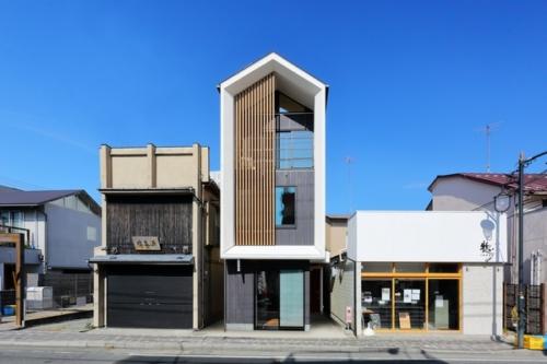 デザイナーズ 住宅 外観 外壁 シンプル モダン ルーバー