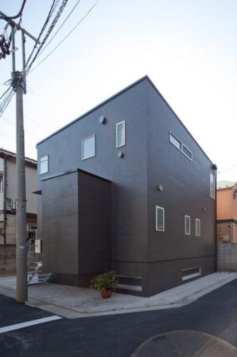 デザイナーズ 住宅 外観 タイル 外壁 シンプル モダン
