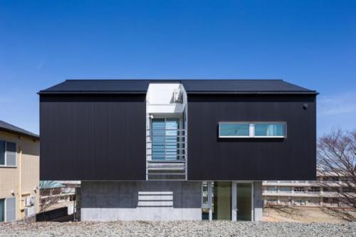 デザイナーズ 住宅 外観 ガルバリウム 波板 コンクリート 打放 外壁 シンプル モダン