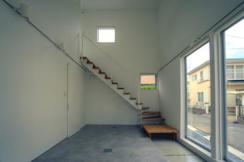 デザイナーズ 住宅 階段  鉄骨 シンプル モダン